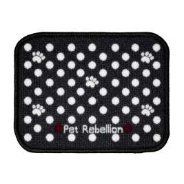 Pet Rebellion Dinner Mate Dotty Black Mini  30x40 cm