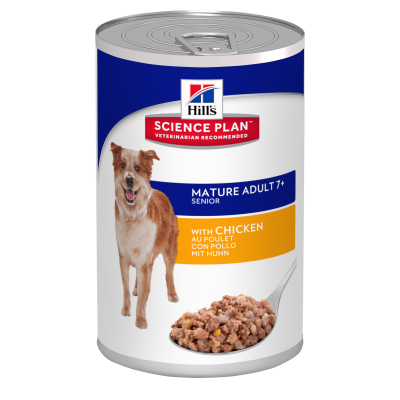 Hill's Science Plan Canine Mature Adult 7+ Kylling  370 g