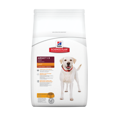Hill's Science Plan Canine Adult Light Large Breed med Kylling  12 kg