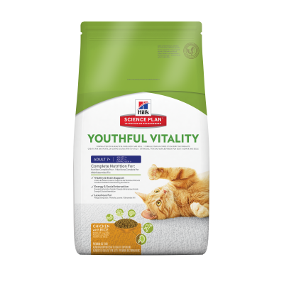 Hill's Science Plan Feline - Adult 7+ Youthful Vitality mit Huhn & Reis 6 kg, 250 g, 1.5 kg
