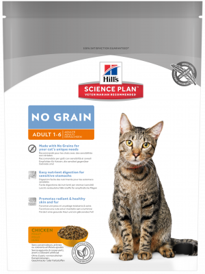 Hill's Science Plan Feline - Adult No Grain met Kip 300 g, 2 kg