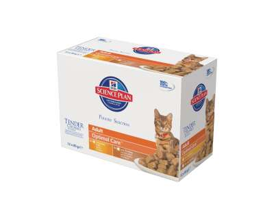 Hill's Science Plan Feline Adult Optimal Care Huhn & Truthahn in Sauce 12x85 g