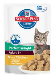 Science Plan Feline Perfect Weight Adult 1+ cu Pui 85 g de la Hill's