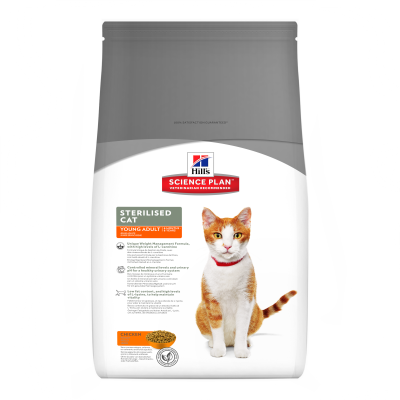Hill's Science Plan Feline - Sterilised Cat Young Adult met Kip 300 g, 3.5 kg, 1.5 kg
