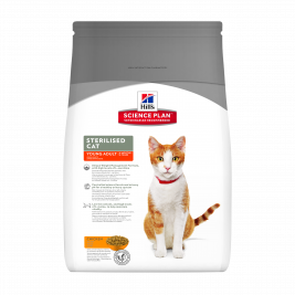 Hill's Science Plan Feline - Sterilised Cat Young Adult met Kip  3.5 kg
