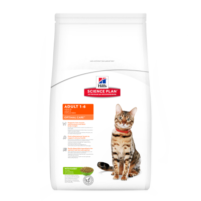 Hill's Science Plan Feline - Adult Optimal Care mit Kaninchen 2 kg, 400 g, 5 kg, 10 kg, 15 kg