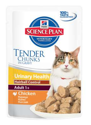 Hill's Science Plan Feline Adult Urinary Health Hairball Control med Kyckling 85 g