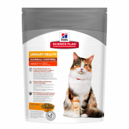 Hill's Science Plan Feline - Adult Urinary Health Hairball Control cu Pui 300 g magazin online