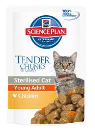 Science Plan Feline Sterilised Young Adult Kana 85 g merkiltä Hill's