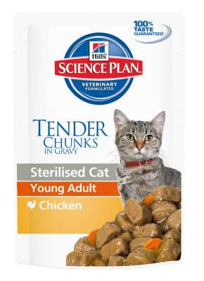 Hill's Science Plan Feline Sterilised Young Adult Kuřecí 85 g