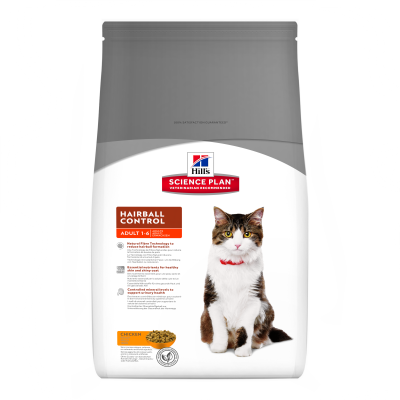 Hill's Science Plan Hairball Control Adult Kylling 5 kg, 300 g, 1.5 kg