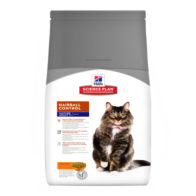 Hill's Science Plan Feline Mature Adult 7+ Hairball Control cu Pui 1.5 kg