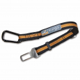 Kurgo Direct to Seatbelt Tether, black/orange  38-56 m