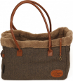 51 Degrees North Herringbone Travel Bag  Marrone