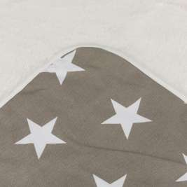 Trixie Couverture Stars  M Taupe