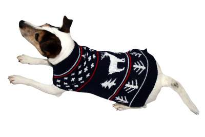 Armitage Pet Care Good Boy Winter Jumper L Schwarz