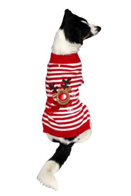 Armitage Pet Care Good Boy Reindeer Jumper L Rød