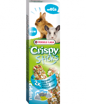 "Versele Laga Crispy Mega Sticks Kaninchen/Chinchillas ""Bergtal""  140 g"