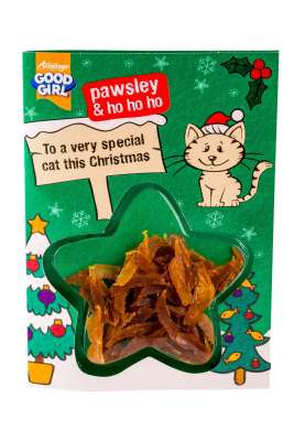 Armitage Pet Care Good Girl Chicken Meaty Treats Weihnachtskarte