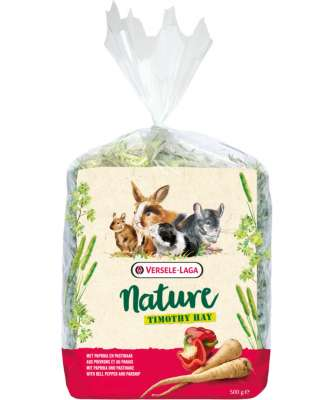 Versele Laga Nature Timothy Hay with Bell Pepper & Parsnip  500 g