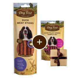 Enten Sticks + Geschenk: Entenfiletstreifen Dog Fest 6921499711557