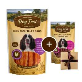 Dog Fest Barre di Filetto di Pollo + Regalo: Filetti di Anatra 90+25 g prezzo