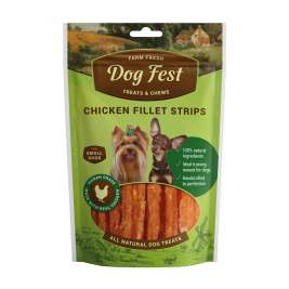 Dog Fest Small Breeds Fatias de Filete de Frango + Presente: Fatias de Filete de Pato  55+25 g 55+25 g