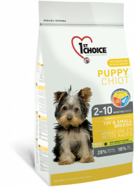 1stChoice Puppy Toy & Small Breeds Kanapohjainen  2.72 kg