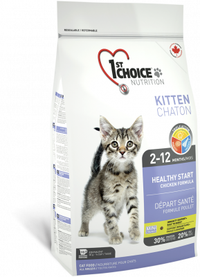1st Choice Kitten Healthy Start Kanapohjainen 5.44 kg, 2.72 kg