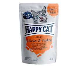Happy Cat Meat in Sauce Adult Pollo y Pavo  85 g