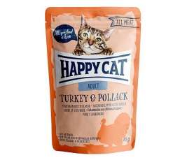 Happy Cat All Meat Adult Pavo y Abadejo  85 g