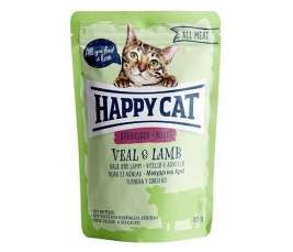 Happy Cat All Meat Adult Sterilised Ternera & Cordero  85 g