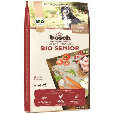 bosch High Premium Concept Senior Organic Chicken and Cowberry  11.5 kg, 1 kg