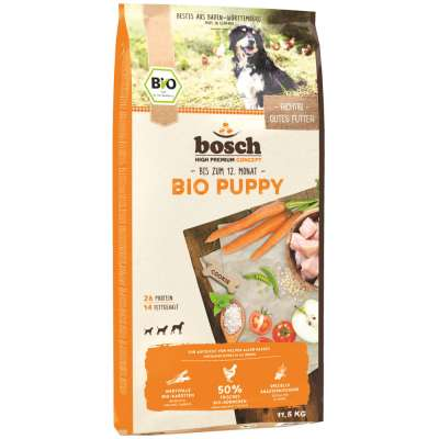 bosch High Premium Concept Bio Puppy Chicken and Carrots 11.5 kg Tamhöna & Morot