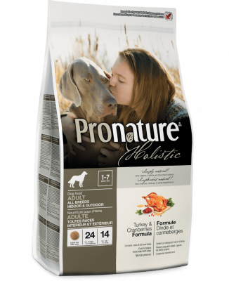 Pronature Holistic Adult Indoor & Outdoor Γαλοπούλα & Βατομουρα  2.72 kg, 13.6 kg